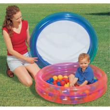 Bestway 2 Ring Kiddie Pool with 50 Game Balls