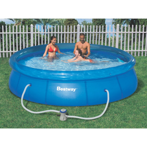 bestway fast set pool set 12 x 30. Black Bedroom Furniture Sets. Home Design Ideas