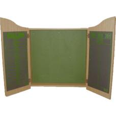 Medalist Wooden Dartboard Cabinet